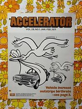 ACCELERATOR Jan/Feb 1971 Vol.28 No.1 GMH NASCO Parts division Holden magazine HG