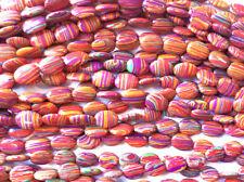 Calsilica Rainbow Semi Precious Stone Man-made Dyed 18x13mm Oval Bead Q1 Strand