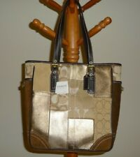 COACH Bag PURSE Handbag Tote NEW w/ Tags Retail $398 Patchwork Suede Side Detail