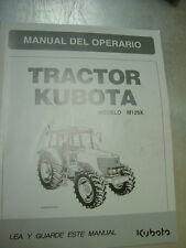 Kubota M125X owners manual
