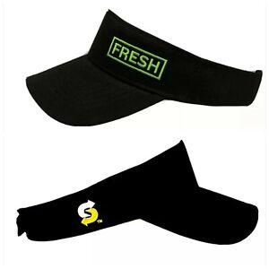 New Subway FRESH Sun Visor Hat Black Adjustable Unisex Employee Uniform