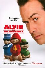 ALVIN AND THE CHIPMUNKS Movie POSTER 27x40 D Jason Lee David Cross and CGI