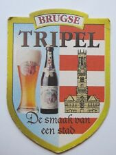 BEER COASTER ~~ Brouwerij De Gouden Boom Brugse Tripel ~ Brugge, BELGIUM Brewing