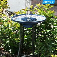 Outdoor Floating Water Fountain Solar Garden Pump Kit Pond for Bird Bath Tank