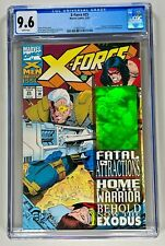 X-FORCE #25 CGC 9.6 WP NM+ (MARVEL 1993) SICK WRAPAROUND CABLE HOLOGRAM COVER 🔑