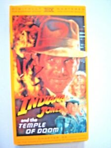 Indiana Jones and the Temple of Doom VHS, 1989. Excellent.