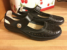 SPRING STEP FLATS MARY JANE NATURATE BLACK SHOES SIZE 37 6.5 / 7 WOMENS