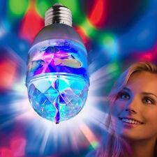 LED Crystal Rotating Stage DJ Party Disco Lamp Light Bulb Fish Xmas W/ AC Socket