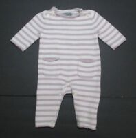 INFANT GIRLS BABY GAP LAVENDER STRIPED SWEATER KNIT LONGALL OUTFIT SIZE 0-3 MON