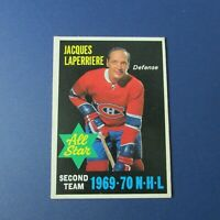 JACQUES LAPERRIERE 1970-71 O-Pee-Chee AS # 245 Montreal Canadiens  VARIATION OPC