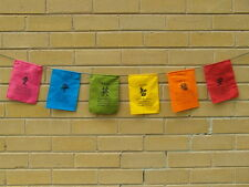 balinese affirmation prayer flag banner small inspirational wall hanging -bright