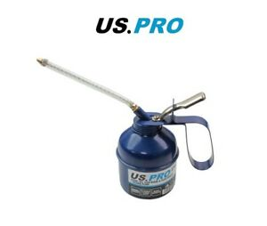 US PRO Metal Oil Can Thumb pump with Rigid and Flexible spouts 2764