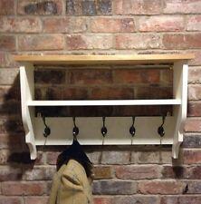 Shabby chic Shelf/coat Hanger/coat Unit/cabinet In White
