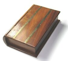 "Brass Inlaid box Card/Jewelry/Pencil/ Storage Box/Gift Box.( 8"" X 5"" X 2."").USA"