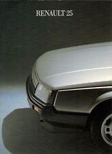 Renault 25 1984-85 UK Market Launch Foldout Brochure V6 Injection GTX GTS TS