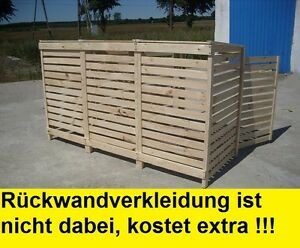 Rückwand 4 Tonnen Müllcontainer Mülltonnenverkleidung Mülltonne Gartenbox Holz