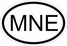 MNE MONTENEGRO COUNTRY CODE OVAL STICKER bumper decal