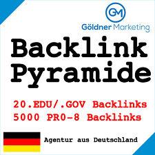 ★ 5000 PR0-8 + 20 EDU/GOV DoFollow Backlink Pyramide | SEO, Linkaufbau ★