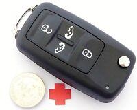 Auto Klapp Schlüssel Gehäuse für VW Sharan T5 T6 Transporter CADDY mit BATTERIE