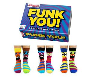 United Oddsocks Funk Design Boxed Set Mens Odd  Socks - Mens Novelty Socks