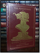The Adventures of Baron Munchausen Dore Illustrated Sealed Easton Press Leather