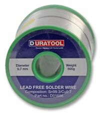 Lead Free Solder Wire 0.7mm 500g 227°C 22SWG - DURATOOL