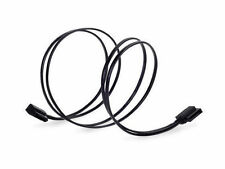 Silverstone CP11B-500 (Black) 500mm Low Profile Thin 90 Deg 6Gb/s SATA Cable