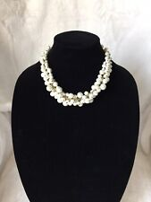 Glass Fashion Pearl Cluster Necklace-NEW!!