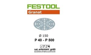Festool Schleifscheiben Schleifpapier Granat für Rotex RO 150mm P 40 bis P 500