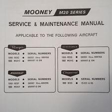 1968-1969 Mooney M20C, M20G, M20F & M20E Service & Maintenance Manual