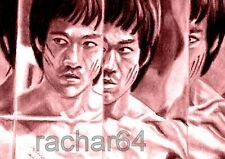 1/1 print ACEO sketch card ENTER THE DRAGON Bruce Lee