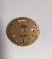 vintage authentic ROLEX oyster perpetual DAY DATE gold tone WATCH FACE parts