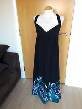 Ladies NEXT Dress Size 12 Black Long Maxi Smart Party Evening
