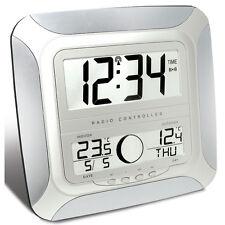 Funk Wanduhr Funkwanduhr mit Mondphasen und Außentemperatur Sender LCD digital