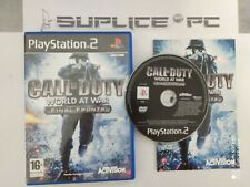 CALL OF DUTY WORLD AT WAR FINAL FRONTS (AVEC NOTICE) - PS2 - JEUX FR