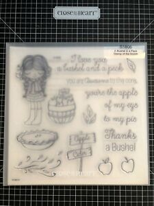 CTMH Close to My Heart Stamps S1806 A Bushel and a Peck Stamp of the Month NEW