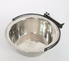 L Pet Dog Cat Cage Stainless Steel Feeding Water Food Bowl Container Cup Hanger