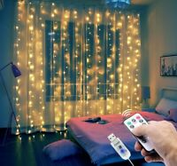 LED String Lights Fairy Curtain Window Wedding Party Decor In/Outdoor -UK