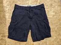 Mens Polo Ralph Lauren Cargo Chino Shorts, Navy Blue, Size W38