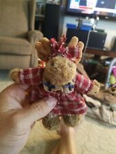 Retired Boyds #56270 Mocha Mooseby Moose Plush Ornament #B