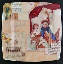 Decorative Plate with Victorian Scene made by Italian Ceramics Company MINT!