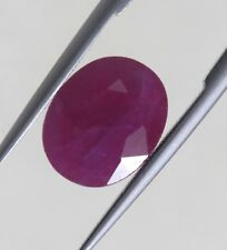 3.08 Ct Natural New Burma Ruby Loose Pinkish Red Color Translucent Gem AA+