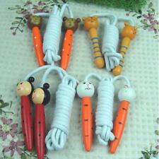 Kids Children Cartoon Animal Wooden Handle Skipping Jump Rope Exercise Tool C