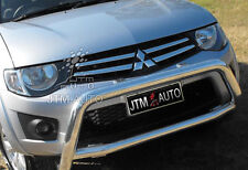 "Mitsubishi Triton OEM Style 3"" Nudge Bar Stainless Steel Grille Guard 2006-2015"