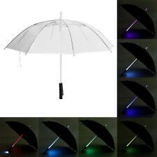 Illuminating 7 Color Changing LED Umbrella Flashlight for Dark Raining Nights H