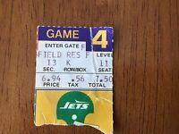 TICKET STUB FROM N.Y JETS VS VIKINGS MONDAY NIGHT FOOTBALL 1979