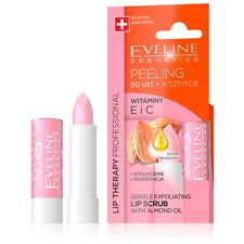 Eveline Lip Therapy Gentle Lip Scrub Almond Oil Balm Smooth Makeup Ready Lips