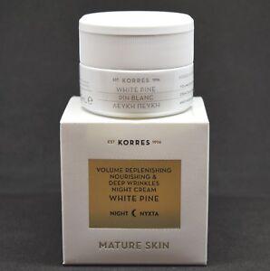 Korres White Pine Night Cream Mature Skin 40 ml / 1.35 Fl Oz