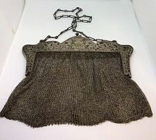 Victorian Sterling Silver Mesh Purse 218.4grams