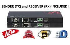 4K HDBaseT Extender Receiver Kit HDMI RS232 CAT5e CAT6 Bi-Directonal IR Balun HD